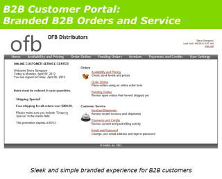B2B Customer Portal Branded Orders and Service