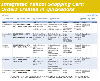 Integrated Yahoo Shopping Cart Processed Orders